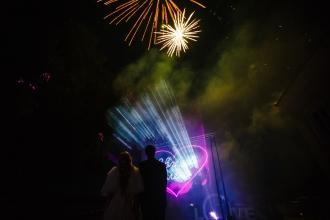 лазерное шоу на свадьбу в Калининграде